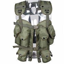 USMC TACTICAL MILITARY HUNTING LOAD BEARING COMBAT ASSAULT LBV 88 VEST OD GREEN