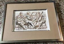 Musicians Original Charles Burdick Ink and Watercolor on paper, signed