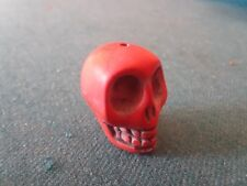 "CARVED STONE SKULL  PINK/RED   1/2""  FREE SHIP"