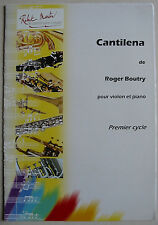 """Cantilena"" de Roger Boutry, Partition pour violon et piano"