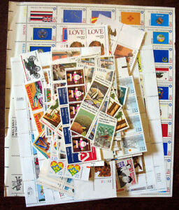 Recent US stamps - for collector or for postage - over $100 face value
