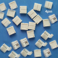 Whosale Mini 4-pin RGB Connector Adapter for RGB 5050 LED Strip Solderless 10mm