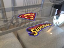 Superman 2-in-1 Logo & Emblem Sticker Decal Sign DC Comics Movie Justice League