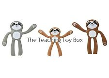 Set of 3 Bendy Sloth Bendable Poseable Fidget Stress Relief Toy for Kids Adults