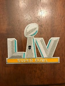 """Super Bowl 55 Patch LV 5"""" Embroidered Patch Iron On or Sew On 2/07/21 In Stock"""