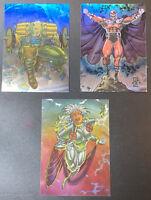 1993 SkyBox Marvel X-Men Series 2 Hologram H-1 H-2 & H3 Storm Magneto Cable MINT