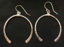 Silver-tones half-circle horse shoe fashion earrings new