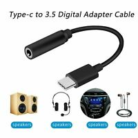 USB-C Type-C zu 3,5 mm AUX Klinke Adapter Kopfhörer Buchse Kabel schwarz Huawei