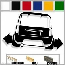 adesivo sticker fiat PANDA 100hp  tuning down-out dub prespaziato,auto