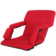 Portable Red Stadium Seat Chair Bleachers Benches Padded Cushion Backs Armrest