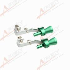 2PCS Universal Turbo Sound Exhaust Whistle/Fake Blowoff BOV Simulator Green