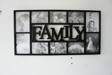 "HOLDS 10 MULTI APERTURE FAMILY PHOTO FRAME 6'' x 4''/7"" x 5"" PHOTOS FRAME BLACK"