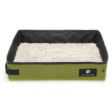 Oxford Cloth Portable/Foldable Cat Litter Box/Pan for Travel Light Weight