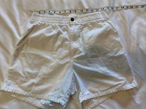 NEW Vintage OP Ocean Pacific Cotton Shorts White size M Beach Surf Skate