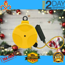 Retractable Extension Cord Reel Wheel 20-Foot Yellow Outlets Heavy Duty Tool New
