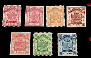 North Borneo SG21b-28 set to 10c Victoria 1886 m/mint CV £130