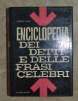 SIMIONI - ENCICLOPEDIA DEI DETTI E DELLE FRASI CELEBRI - ED:DE VECCHI 1964  (SI)