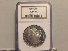 1884-CC $1 Morgan Silver Dollar NGC MS60 DPL