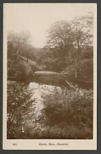 Postcard Mansfield Nottinghamshire view of Quarry Lane posted 1920 RP by WHS
