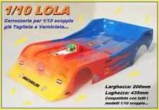 Carrozzeria 1/10 200mm LOLA Body 1:10 Verniciata Painted Gialla-Rosso-Blu