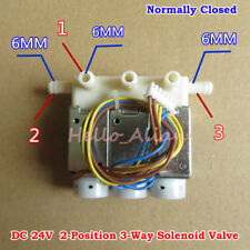 DC 24V 2-Position 3-Way Micro Electric Solenoid Air Valve N/C Normally Closed