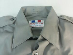 Flying Cross Gray 15W5451 Mens Uniform Security Shirt Made USA 26 x 32 Sleeve 34