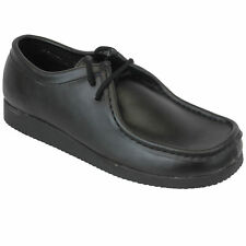Mens Boys School Shoes Coated Leather Kids Formal Dress Lace Up Office Work New
