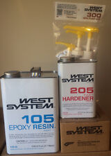 West System Epoxy 105 Gal, 205 Qt Fast Hardener w/ Pumps - Fiberglass Resin