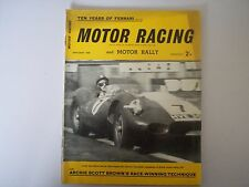 Motor Racing et moteur Rallye magazine de Janvier 1958