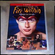 CIRQUE DU SOLEIL FIRE WITHIN 3 DVD ITALIANO Serie Completa RARO Fuori Catalogo