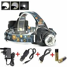 3000 Lm CREE xm-l2 DEL Zoom lumineuse Lamp Rechargeable Lampe & Chargers