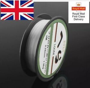 CRYSTAL CLEAR SMOOTH FISHING LINE MONOFILAMENT LINE SPOOL POND LAKES UK 100m