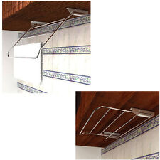 Stainless Slide Kitchen Dish Wash Cloth Drying Rack Under Cabinet Mount