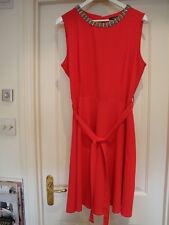 LADIES WALLIS PINK EMBELLISHED DRESS  SIZE 16