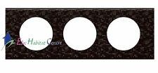 Plaque triple Céliane matière cuir pixel Legrand 69453