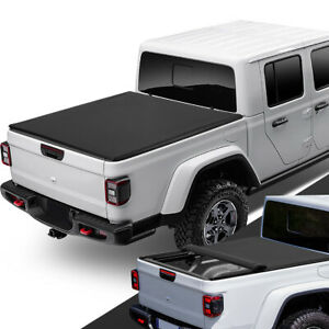 Fit 2020 Jeep Gladiator JT Pickup Bed Soft Top Roll Up Tonneau Cover w/Side Rail