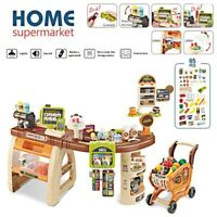 Supermarket Console Toy Shopping Store Playset Kids Workbench Pretend Play Set