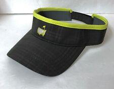 Rare THE MASTERS GOLF VISOR dry-fit hat charcoal dark gray plaid neon men/women