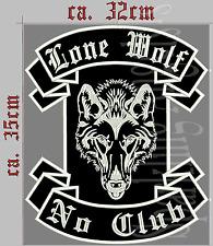 Lone Wolf No Club Dos Patch, écusson