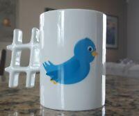 Twitter Mug #HASHTAG Blue Bird Hashtag Handle Birdie Tweet