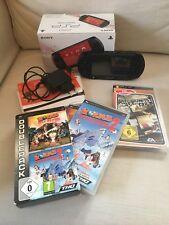 Sony Street PSP E1004 CB (schwarz) und 3 Spiele Need For Speed / Worms 2