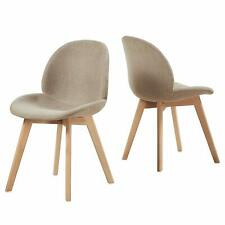 Lot de 2 chaise de salle à manger Fauteuil de chaise latérale design rétro Gris
