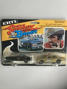 Police Die Cast 1980 ERTL Smokey and the Bandit #1790 Bandit & Sheriff RARE NOS