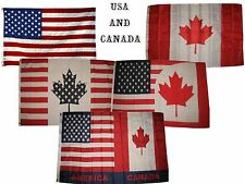 3x5 3'x5' Wholesale Lot Set USA Canada American Canadian Friends Combo 5 Flags