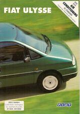 Fiat Ulysse 1996-99 UK Market Sales Brochure 2.0 1.9TD S EL