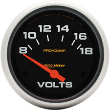 AU5492  AutoMeter Pro-Comp Short Sweep Electric Voltmeter Gauge 2.5/8 in