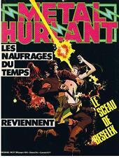 METAL HURLANT N° 37 LES NAUFRAGES DU TEMPS REVIENNENT 1979 BON ETAT