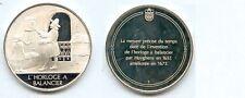 Médaille en argent  LES GRANDES INVENTIONS   L' HORLOGE A BALANCIER