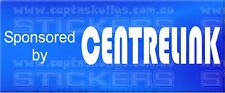 SPONSORED BY CENTRELINK DECAL 280mm x 50mm 15 COLOURS TO CHOOSE FROM MPN 1033