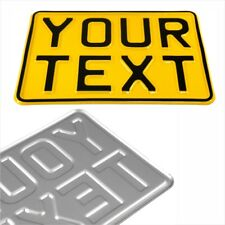 7x5 yellow kids text age motorcycle pressed number plate bike metal aluminium 1x